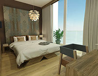 Interior design - small bedroom in an apartment