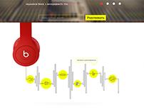 Headphones landing