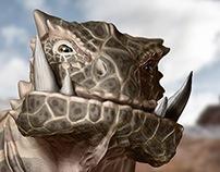 Creature Bust & Illustration