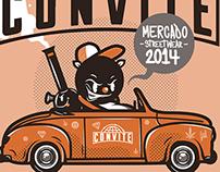 afiche para mercado streetwear CONVITE 2014