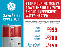 Email blast - GE Water Heater promotion