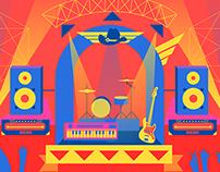 Ilustración Escenario Fiesta Mexicana 2014 Televisa