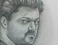 Actor Vijay Sketch
