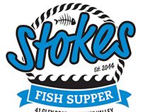 Stokes Fish Supper logo & menu design