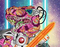Skateboard: Outerspacsaurus