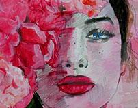 summer colors pencil/acrilic 20x30