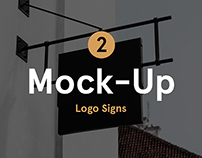 Restaurant & Coffee Signs Mock-Up