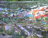 Улица уездного города / The street of the county town