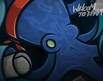 Octopus (t-shirt print)