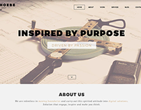 Phoebe - One Page Responsive WordPress Theme.