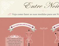Infográfico para medidas de vestido de noivas