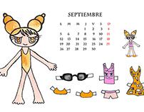 Calendario Recortables