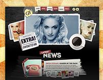 Artist Website - Gwen Stefani [concept]