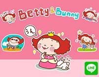 Line Stickers: Betty&Bunny