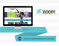 Web Design | Website criado para a Academia Zoom