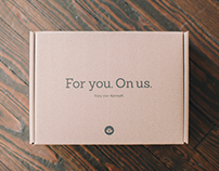 For You. On Us. Package Design