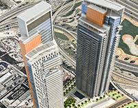 Two towers in Dubai Marina