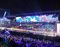 XX Commonwealth Games 2014 Opening Ceremony - graphics