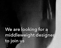 Middleweight Designer Wanted