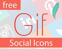 /Free/ Gif Social Media Icons