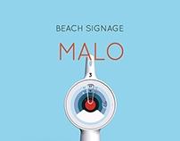 MALO - beach signage