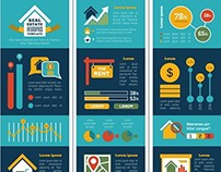 Real Estate Infographic Templates and Elements.