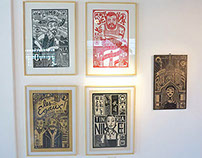 Immigrants woodcut project. First copies & exhibition.