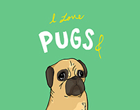 I love pugs and hugs