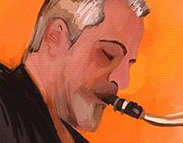 Digital Painting - The saxophonist