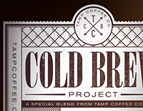 Tamp Cold Brew package design