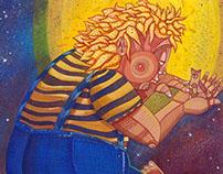 Titanes. Ilustración y poemas por Sr. Zurita. 2014.