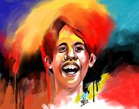 iPad finger painting - Taare Zameen Par