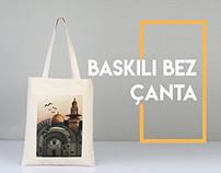 Toptan Baskılı Bez Çanta - Wholesale Printed Tote Bags