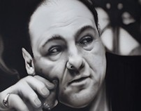 Tony Soprano - Airbrushed