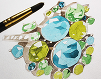 Watercolor jewelry