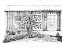 Custom Illustration General Potter Farm Wedding