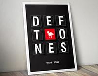 Pôster Tipográfico Deftones 2