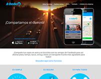 A-Dedo landing page