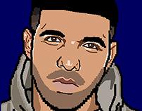 Drake vs Lil Wayne | Hip Hop 16-bit Portraits