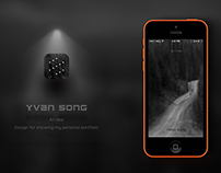 YVAN SONG - Design for showing my personal portfolio