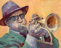 Street musician, Trumpeter