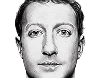 Mark Zuckerberg: Digital Drawing