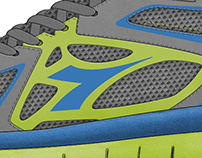 athletic footwear design for diadora
