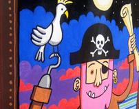 Pinkbeard the pirate