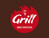 Logo and Menu for  Grill (bbq stations)