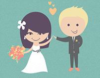 Vintage Modern Wedding Invitation + Collateral