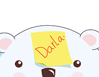 LINE sticker : Darla the polar bear