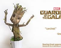 Dancing Groot Papercraft