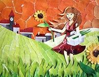 'September Sun'  Paper-art