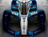 Maserati Formula-e 2018 Concept Livery